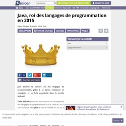 Java, roi des langages de programmation en 2015