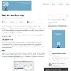 Java Machine Learning
