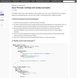 Java notify() and wait() examples
