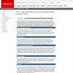 Java Platform, Micro Edition (Java ME)