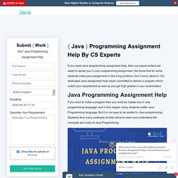 Help With Java Programming Assignment