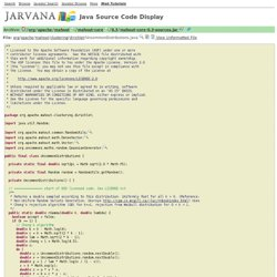 UncommonDistributions.java - Source Code Display - Jarvana