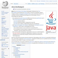 Java (technique)