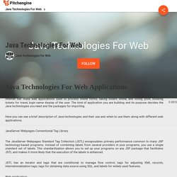 Java Technologies For Web : Java Technologies For Web