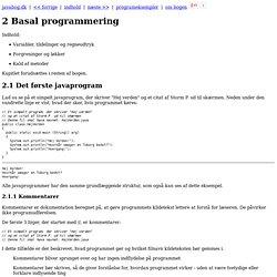 Basal programmering