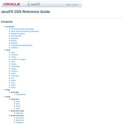 Javafx css reference guide by Eduardo Lopes - Issuu