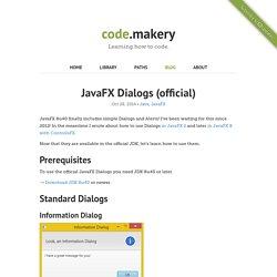 JavaFX Dialogs (official)