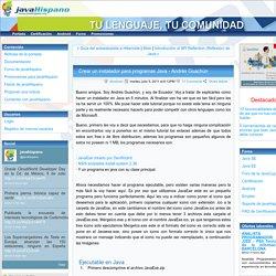Crear un instalador para programas Java - AndrésGuachún