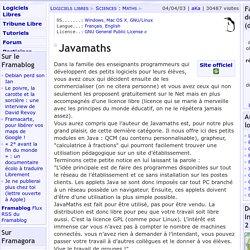 Javamaths - Sciences: Maths - Logiciels Libres