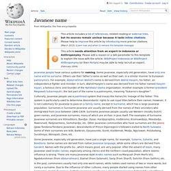 Javanese name - Wikipedia