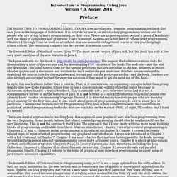 Javanotes 7.0 Preface