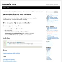 Javascript Accelerometer Demo and Source