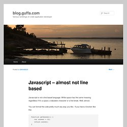 Javascript – almost not line based
