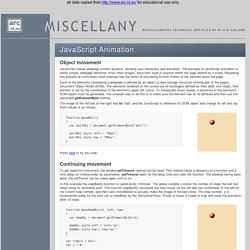 JavaScript Animation