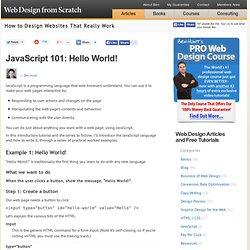 JavaScript 101, Beginner's Guide to Learning Block / Inline JavaScript