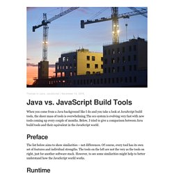 Java vs. JavaScript Build Tools – Thomas Uhrig