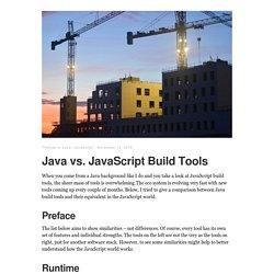 Java vs. JavaScript Build Tools – Thomas Uhrig
