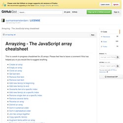 Arrayzing - The JavaScript array cheatsheet · GitHub