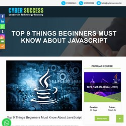 Top 9 Javascript Basic Concepts for Beginners