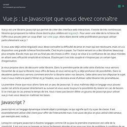 Vue.js : Le Javascript que vous devez connaître – Laravel
