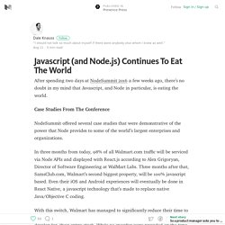 Javascript (and Node.js) Continues To Eat The World – Presence Press – Medium