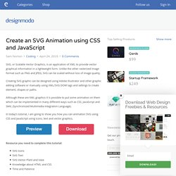 Create an SVG Animation using CSS and JavaScript