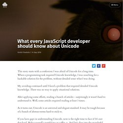 What every JavaScript developer should know about Unicode