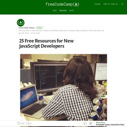 25 Free Resources for New JavaScript Developers