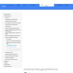 JavaScript Debugging Reference