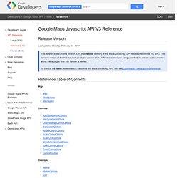 Maps Javascript API V3 Reference - Google Maps JavaScript API V3 - Google Code