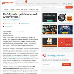 Useful JavaScript Libraries and jQuery Plugins For Web Developers