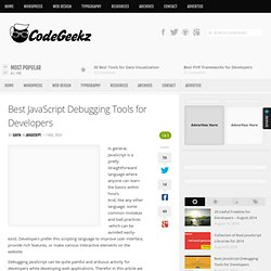 Best JavaScript Debugging Tools for Developers - Code Geekz