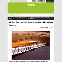 65+ Best Free Javascript Tutorials, eBooks & PDF For Web Developers