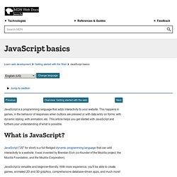 JavaScript basics - Learning the Web