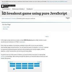 2D breakout game using pure JavaScript - Game development