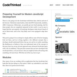 Preparing Yourself for Modern JavaScript Development