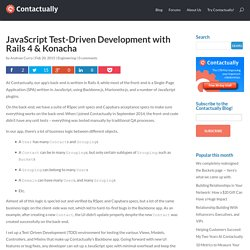 JavaScript Test-Driven Development with Rails 4 & Konacha