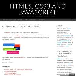 CSS3, HTML5, JavaScript, AJAX and More