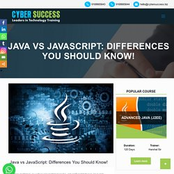 The Difference Between Java and Javascript