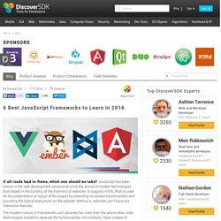 6 Best JavaScript Frameworks to Learn In 2016