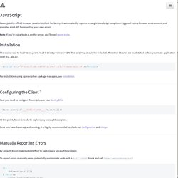 JavaScript – Sentry Documentation