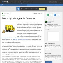 Javascript - Draggable Elements