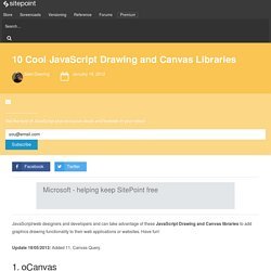 10 Cool JavaScript Drawing and Canvas Libraries