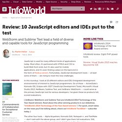 Review: 10 JavaScript editors and IDEs put to the test