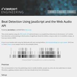 Beat Detection Using JavaScript and the Web Audio API