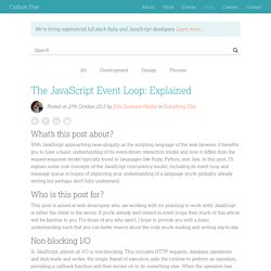 The JavaScript Event Loop: Explained
