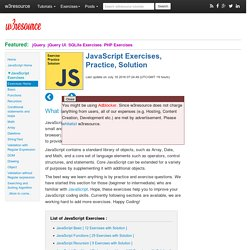 JavaScript Exercises, Practice, Solution
