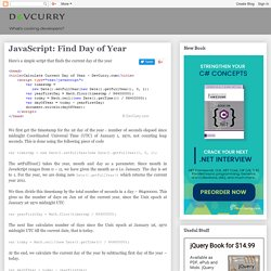 JavaScript: Find Day of Year