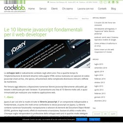 Le 10 librerie javascript fondamentali per il web developer