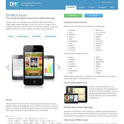 Touch - JavaScript Mobile Framework for HTML5 Web Apps with Touch Support